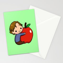Gwaine and Apple Stationery Cards