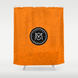 Orange Canovaro Manetti  Shower Curtain