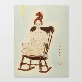 Yana in the Rocking-Chair Canvas Print
