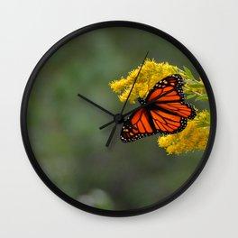 Autumn Monarch by Teresa Thompson Wall Clock