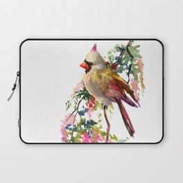 Cardinal Bird Earth Green Olive green Pink Laptop Sleeve