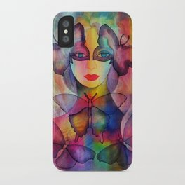 Lady Butterfly iPhone Case