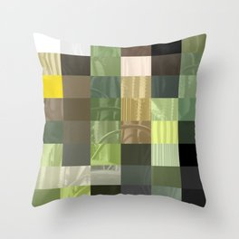 Cactus Garden Abstract Rectangles 3 Throw Pillow