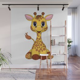 Gentle Giraffe Wall Mural