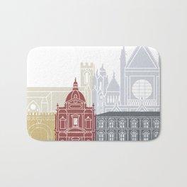 Siena skyline poster Bath Mat