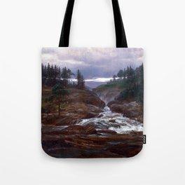 Johan Christian Dahl The Lower Falls of Labrofoss Tote Bag