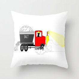 Winter Until the Plows Come Home Snow Plow Driver Throw Pillow