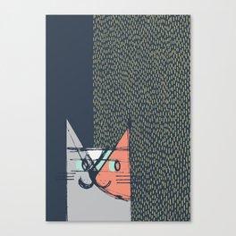Cubist Cat Study #1 by Friztin Canvas Print