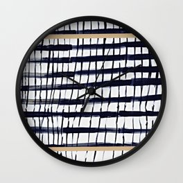StrIpES to BlAck Nd ChIc Wall Clock