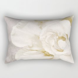 Petals Impasto Alabaster Rectangular Pillow