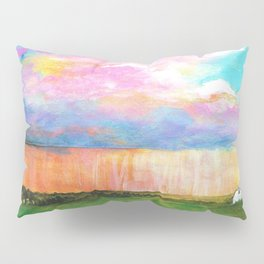 April Showers, Abstract Landscape Pillow Sham