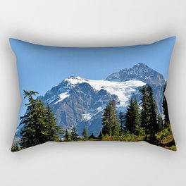 Mount Shuksan Close View Rectangular Pillow