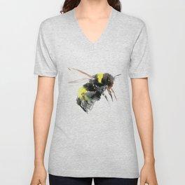 Bumblebee, bee art flying bee design honey bee wildlife Unisex V-Neck