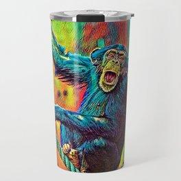 AnimalColor_Chimpanzee_007_by_JAMColors Travel Mug