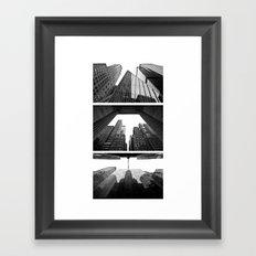 New York Triptik Framed Art Print