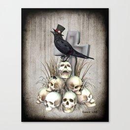 Sir Raven Skully Canvas Print