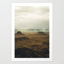 Southwest Mountains with Smoke Art Print