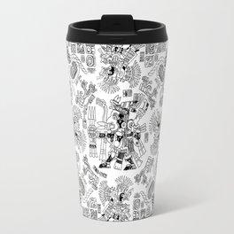 Mayan Spring B&W Travel Mug