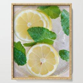 Lemon Mint Cooler Serving Tray