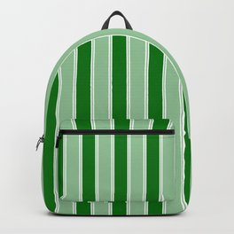 Large Vertical Christmas Holly and Ivy Green Velvet Bed Stripes Backpack