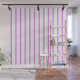 Vertical Lines (Violet/White) Wall Mural