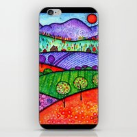 north carolina iPhone & iPod Skins featuring Landscape - Boone, North Carolina by Karen Hickerson