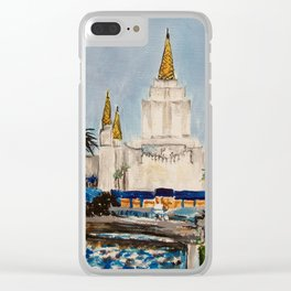 Oakland California LDS Temple Dusk Clear iPhone Case