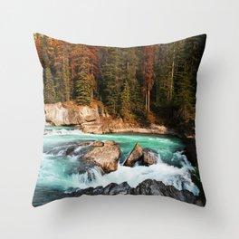 Natural Bridge Falls - Yoho, BC Throw Pillow