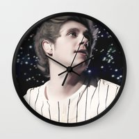 niall Wall Clocks featuring Niall OTRA by Clara J Aira