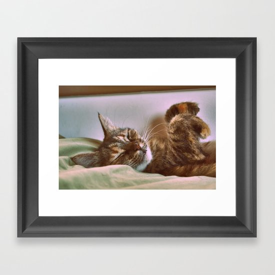 Yes we are Happy : ) Framed Art Print