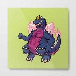 Space Godzilla Metal Print
