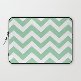 Turquoise green - green color - Zigzag Chevron Pattern Laptop Sleeve