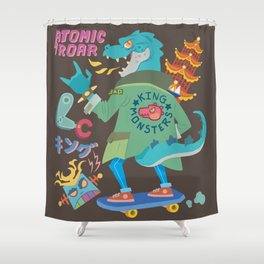 King of Monsters Shower Curtain
