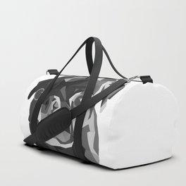 Pug Geometric art Black pugs Dog portrait Pet Duffle Bag