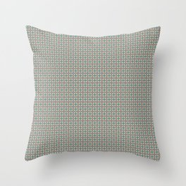 Art Deco Floral in green and orange Throw Pillow