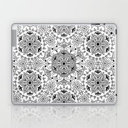 Mandala_White and Black Laptop & iPad Skin