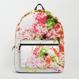 Outlandish Orange - Abstract Splatter Style Backpack