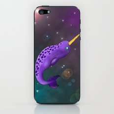 Narwhal in Space iPhone & iPod Skin