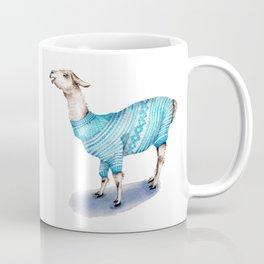 Llama in a Blue Sweater Coffee Mug