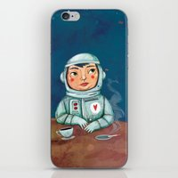 spaceman iPhone & iPod Skins featuring Spaceman by Milena Milak