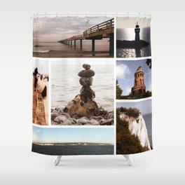 Collage of Rügen Shower Curtain