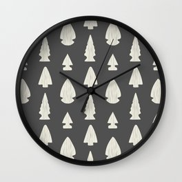 Arrowheads-Dark Gray & Cream Wall Clock