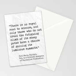 Karl Marx, Capital, quote Stationery Cards