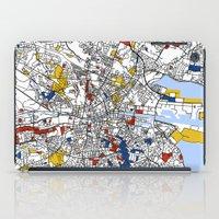 dublin iPad Cases featuring Dublin by Mondrian Maps