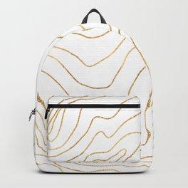 Modern Gold lines Minimalist Hand Drawn Design Backpack