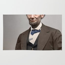 Abraham Lincoln Painting Rug