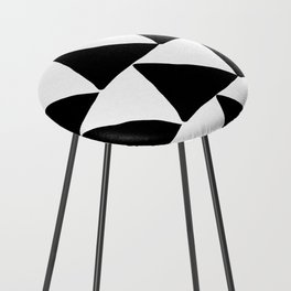 Mountains - Black and White Triangles Counter Stool