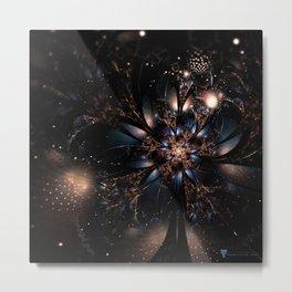 Molly Flower Fractal Manafold Art Metal Print