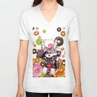 donuts V-neck T-shirts featuring Donuts by Coralus