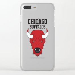 Chicago Buffalos Clear iPhone Case